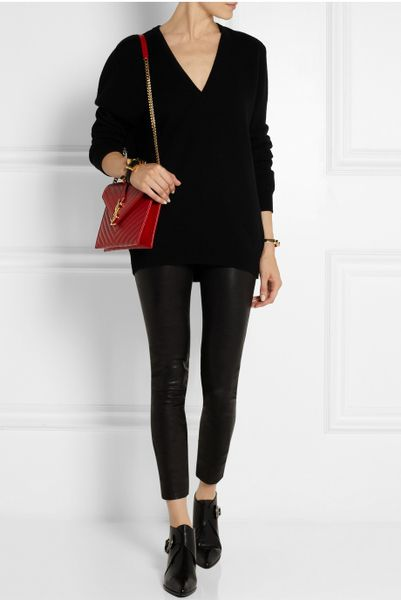 Saint Laurent Monogramme Large Quilted Leather Shoulder Bag ...