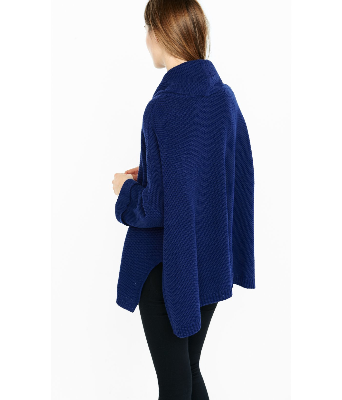 Express Cowl Neck Boxy Sweater in Blue | Lyst
