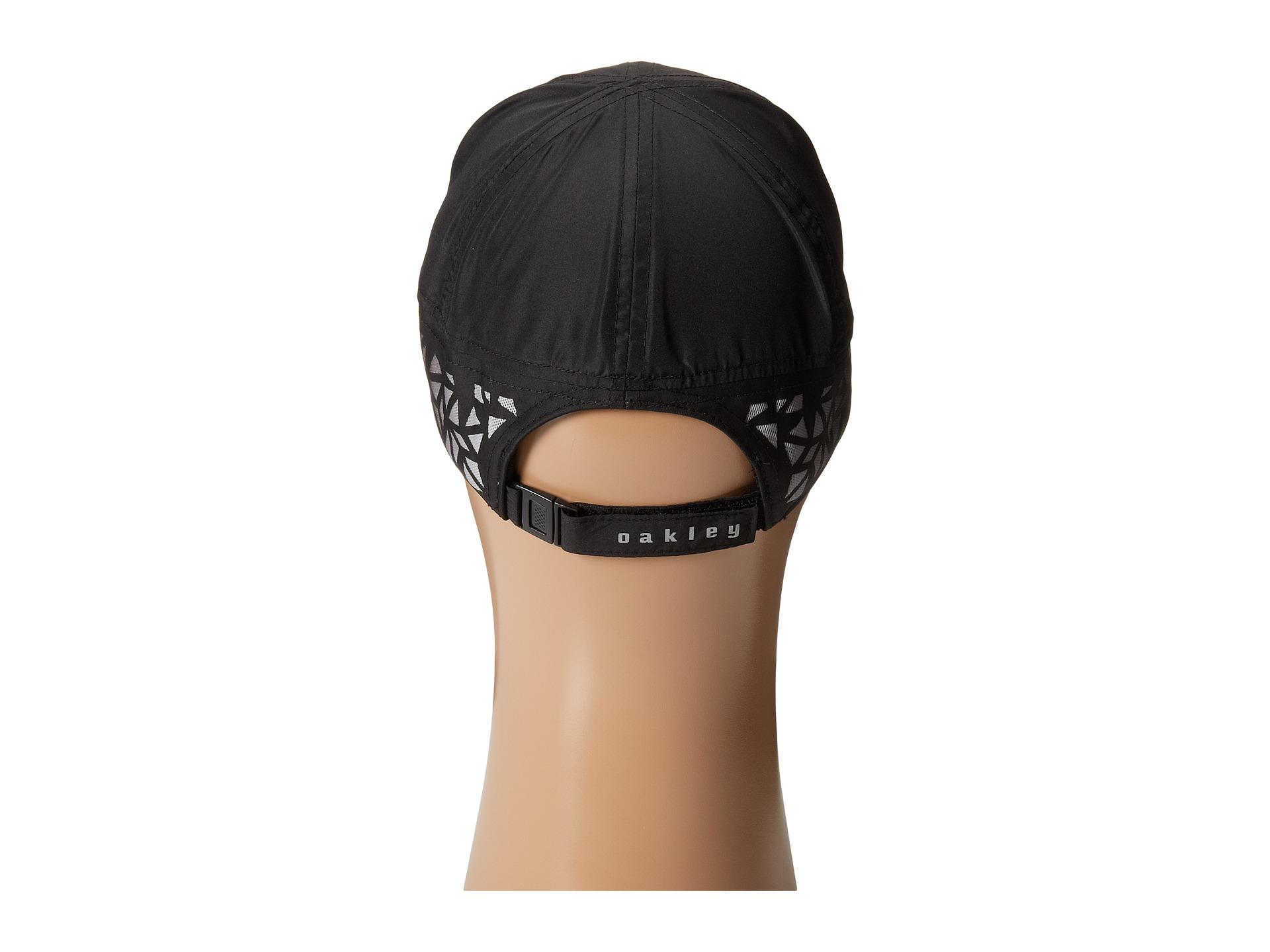 a5936cb294c48 ... canada lyst oakley performance running hat in black 8b518 a7058