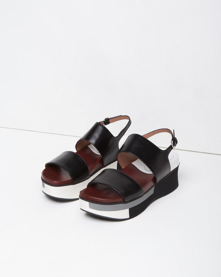 Lyst Marni Two Strap Sandal In Black