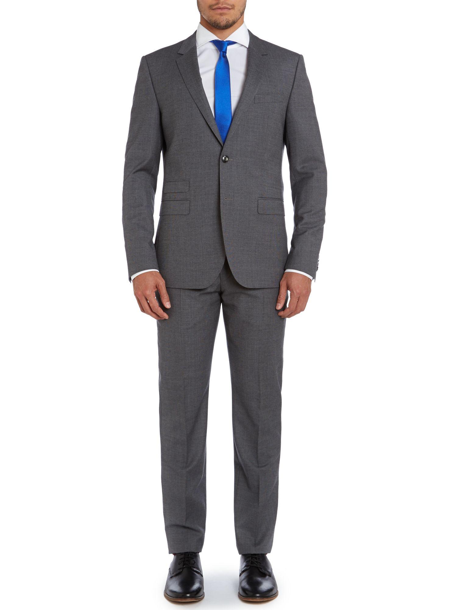 tommy hilfiger gray rebel steel slim fit textured suit. Black Bedroom Furniture Sets. Home Design Ideas
