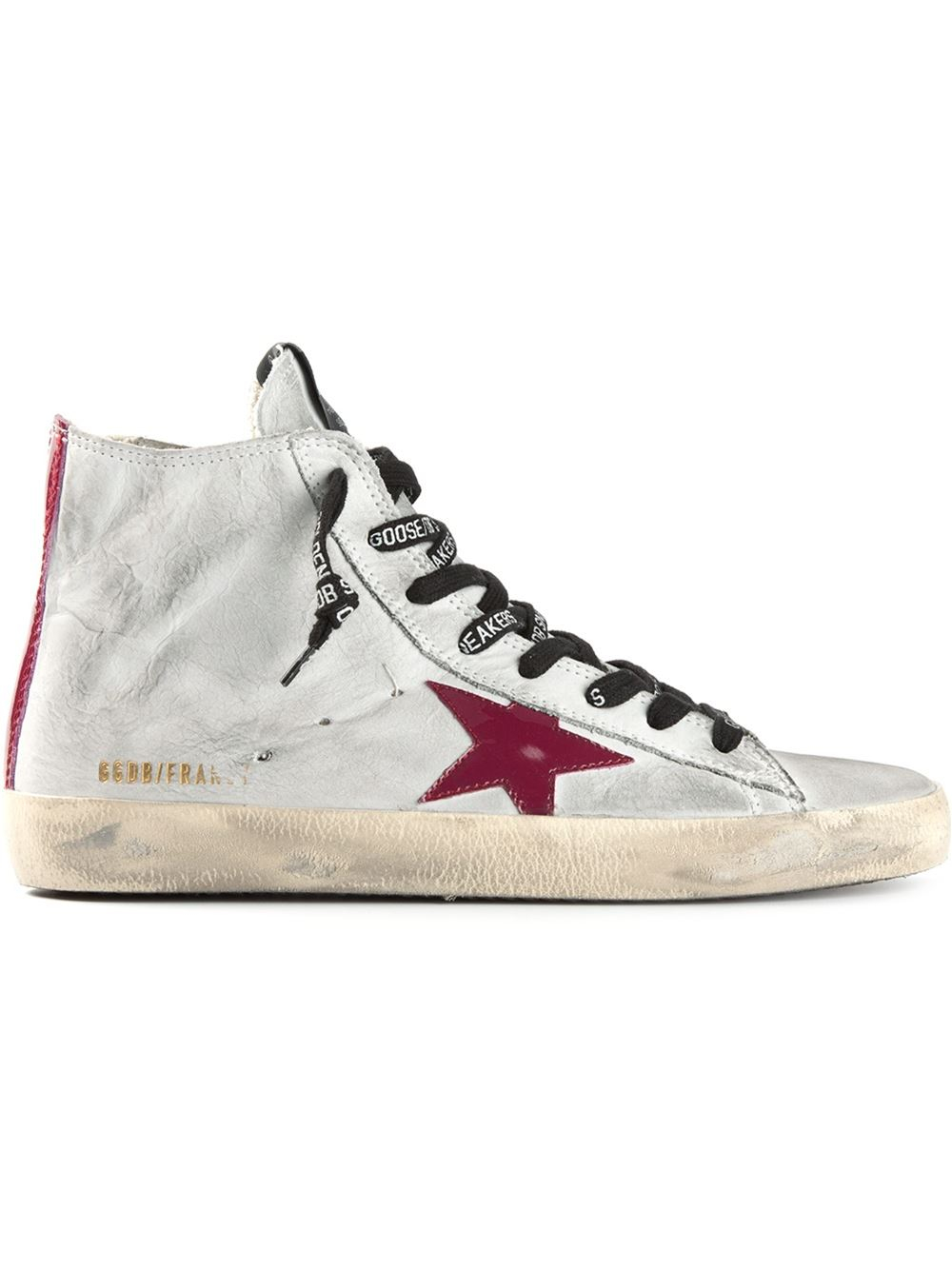 golden goose deluxe brand fancy hitop sneakers in gray