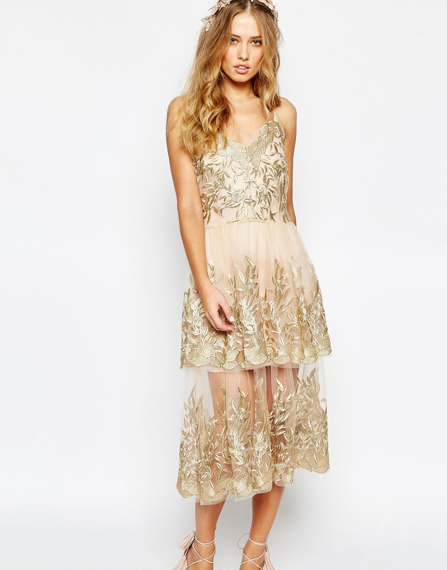 body frock wedding begonia gold layered dress in metallic