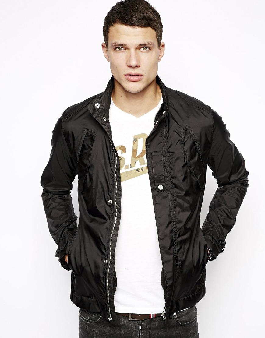 g star raw jacket in black for men lyst. Black Bedroom Furniture Sets. Home Design Ideas
