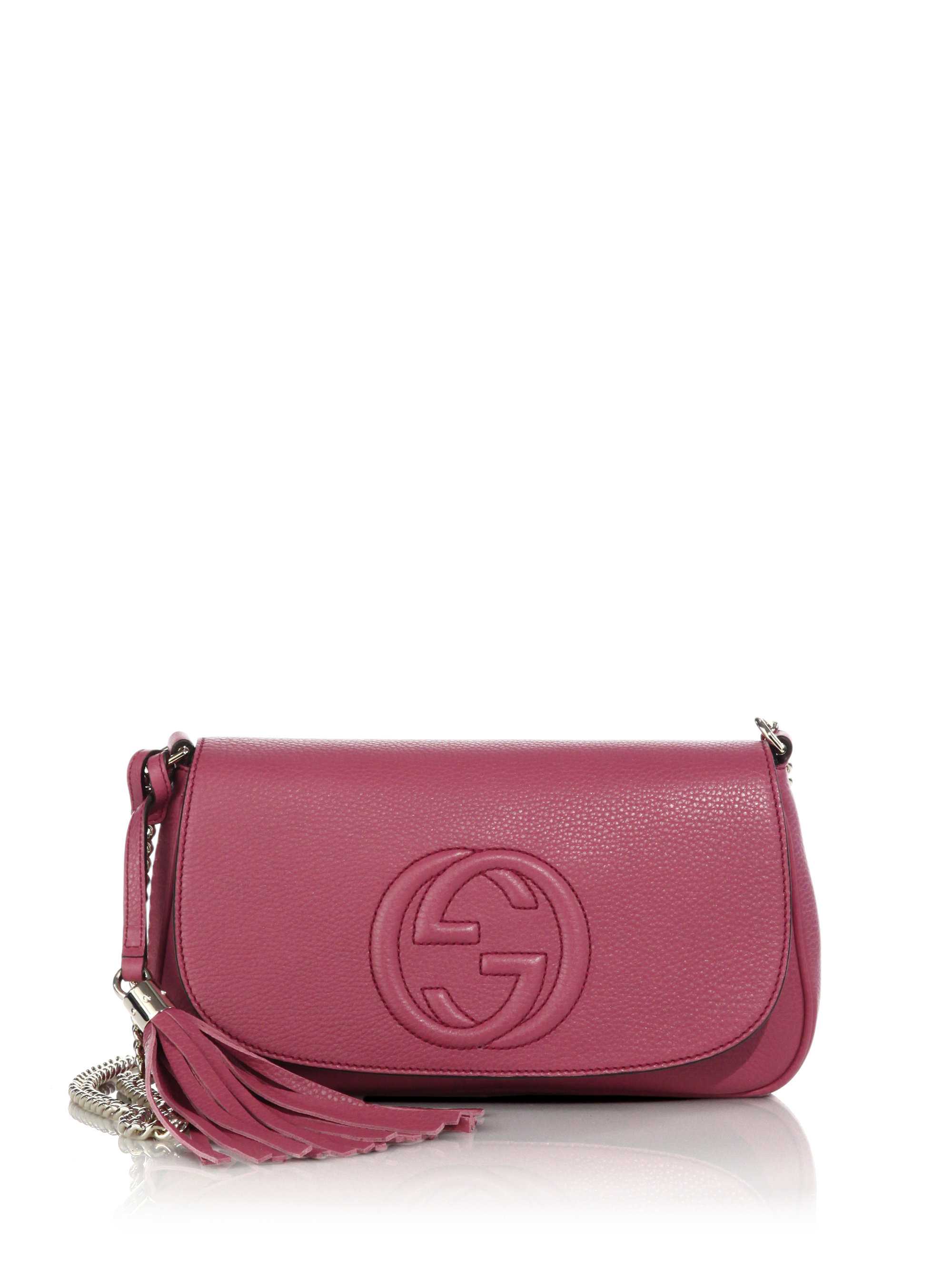 9482371f3721 Lyst - Gucci Soho Leather Shoulder Bag in Purple
