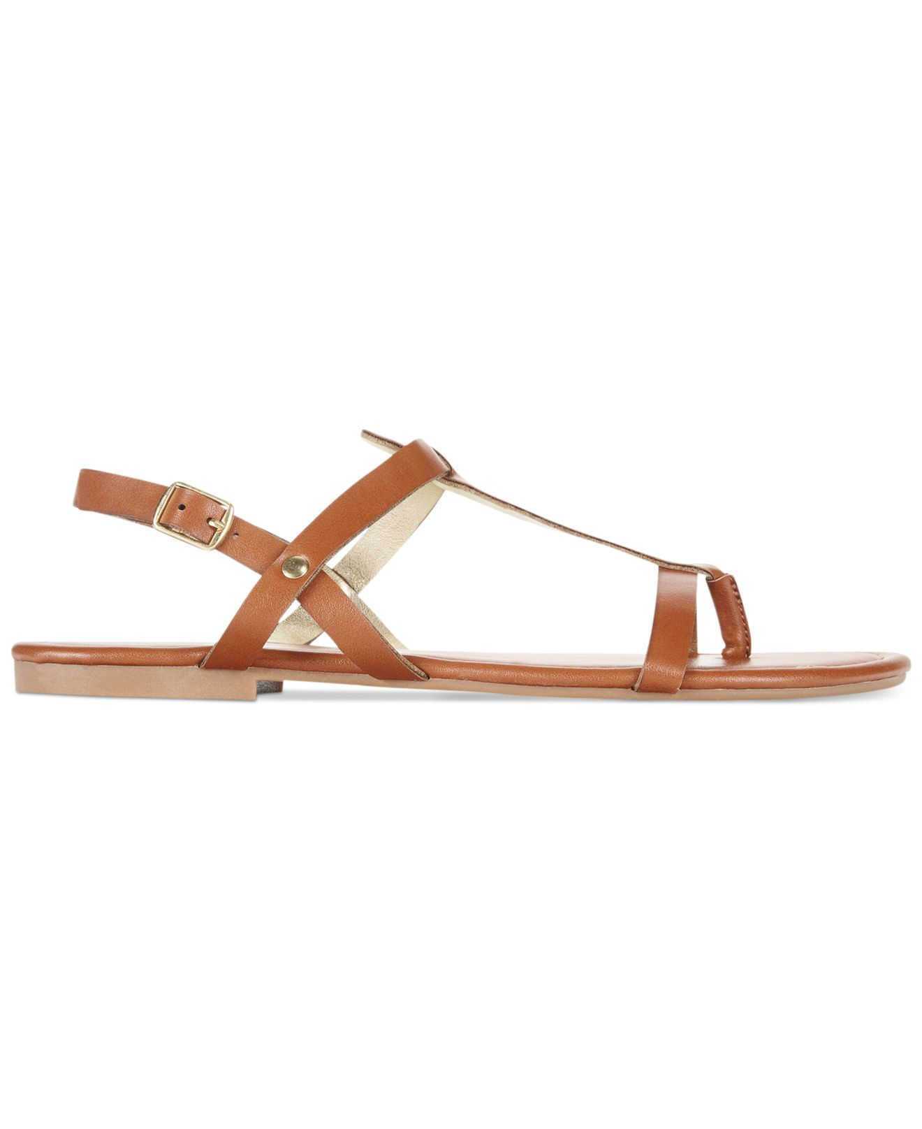 a21e89252c00e Lyst - Rampage 143 Girl Radko Flat Thong Sandals in Brown