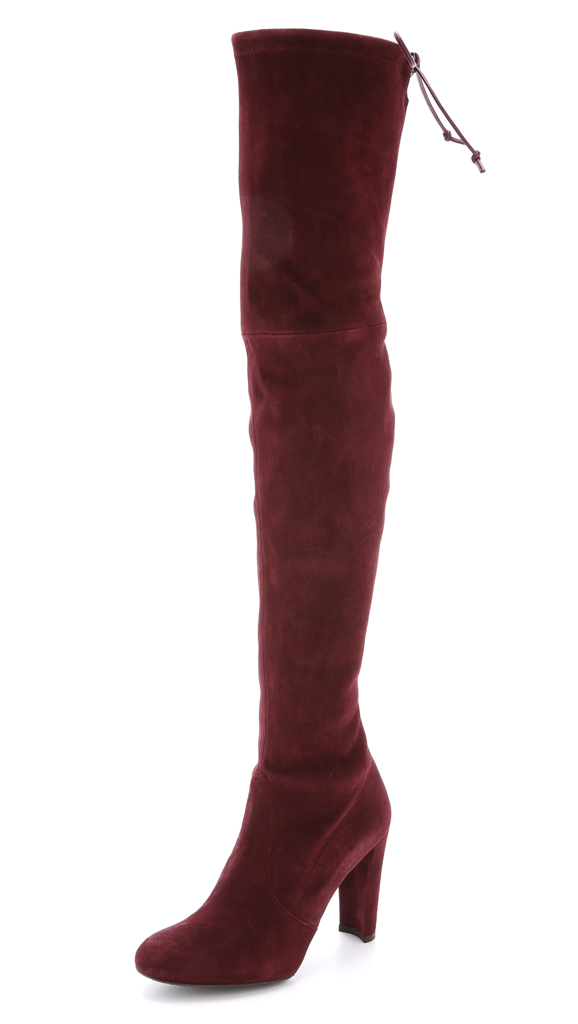 2a9bc211056 Stuart Weitzman Highland Over The Knee Boots - Topo in Purple - Lyst