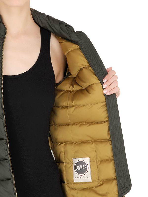 Colmar Embroidered Nylon Down Jacket In Green   Lyst