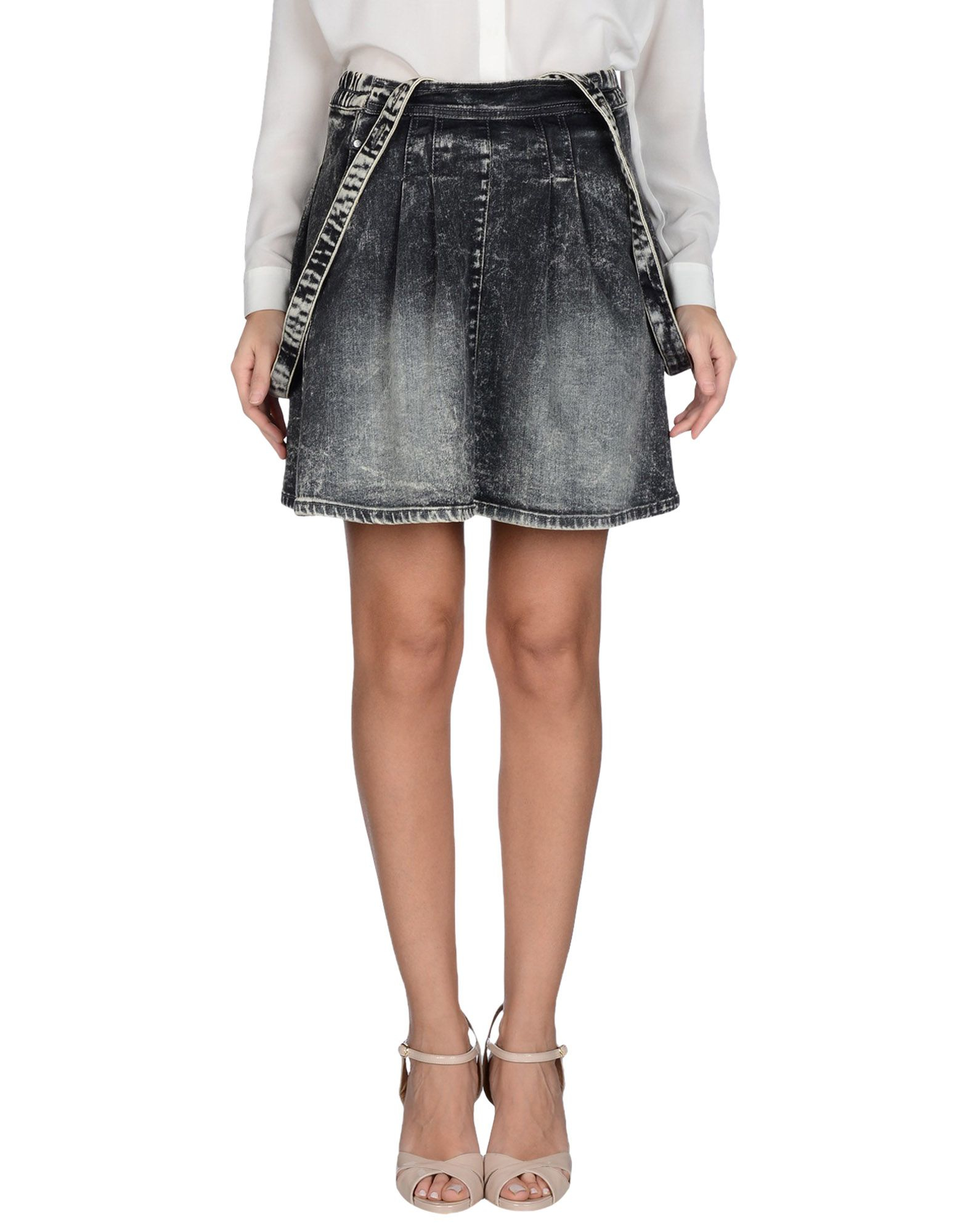 supertrash denim skirt in black lyst