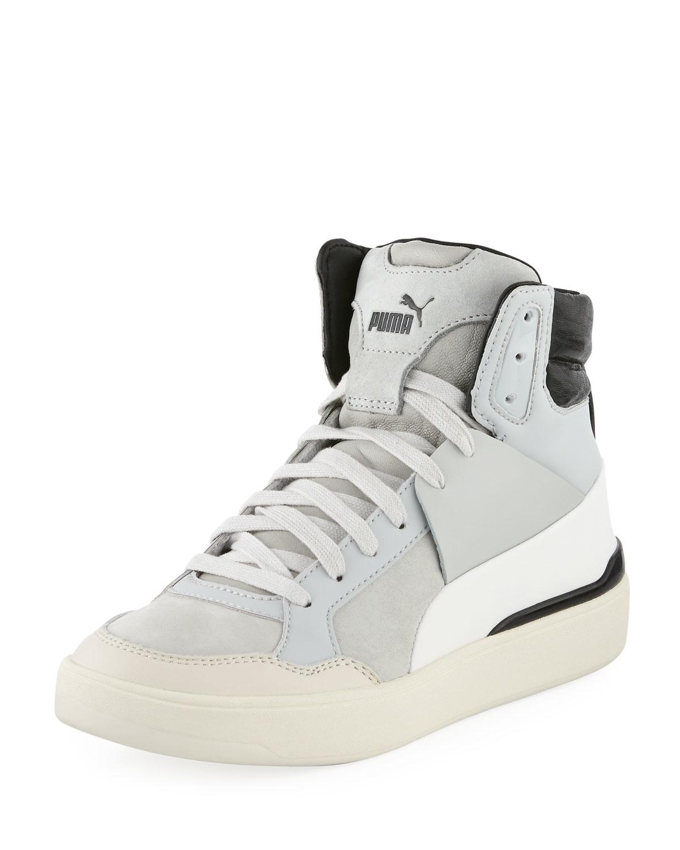 608cdf59219c Lyst - Alexander McQueen X Puma Brace Femme Mid-top Sneaker in Gray ...