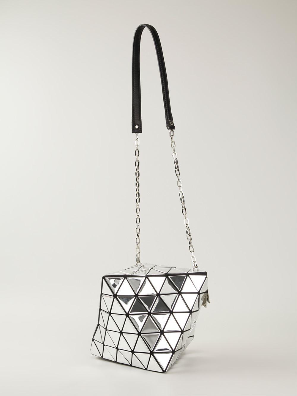 Lyst - Bao Bao Issey Miyake Metallic Pyramid-Patterned Shoulder Bag ... 56cd9bc2708c4
