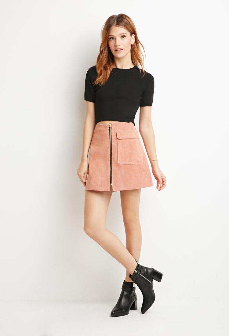 Pink A Line Skirt - Skirts