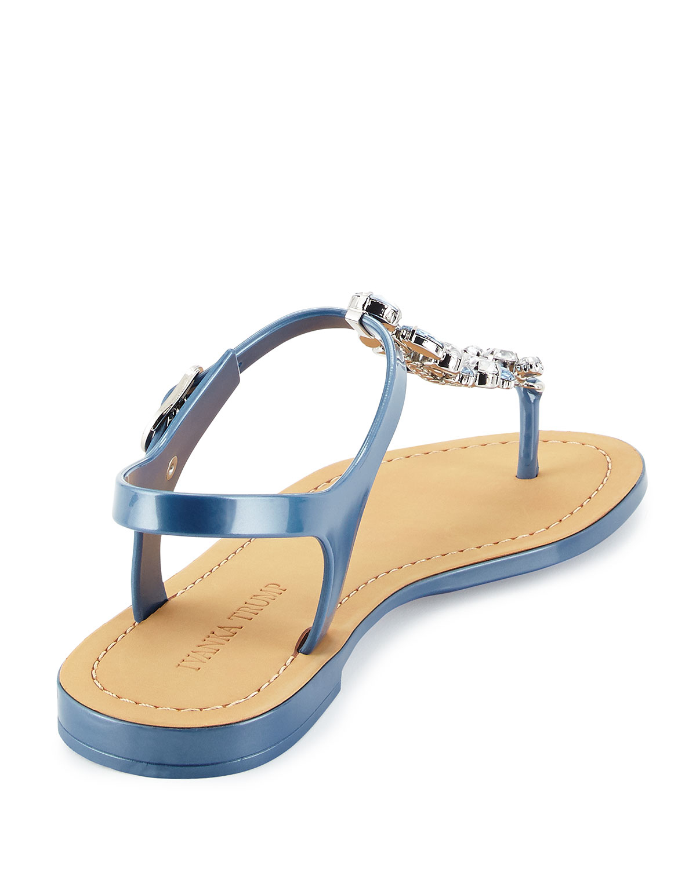 72cbe6df2 Lyst - Ivanka Trump Areya Jeweled Jelly Sandal in Blue