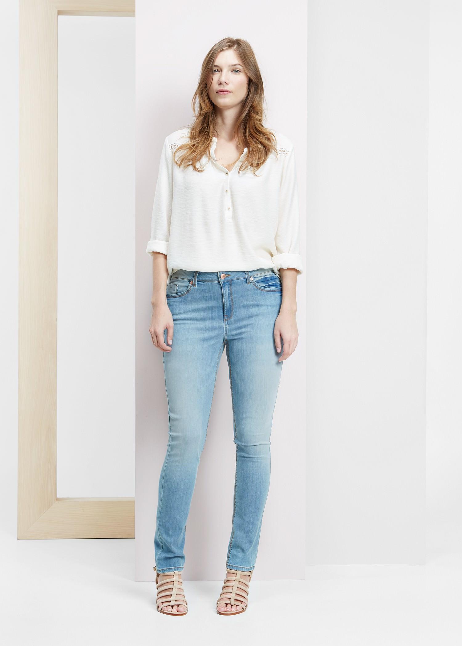 613e87850de40d Violeta by Mango Slim-Fit Susan Jeans in Blue - Lyst