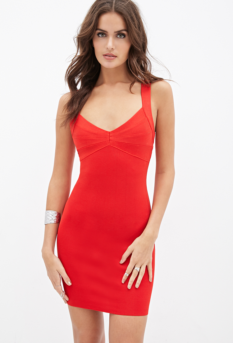 Red dress bandage forever 21 recommendations to wear for winter in 2019