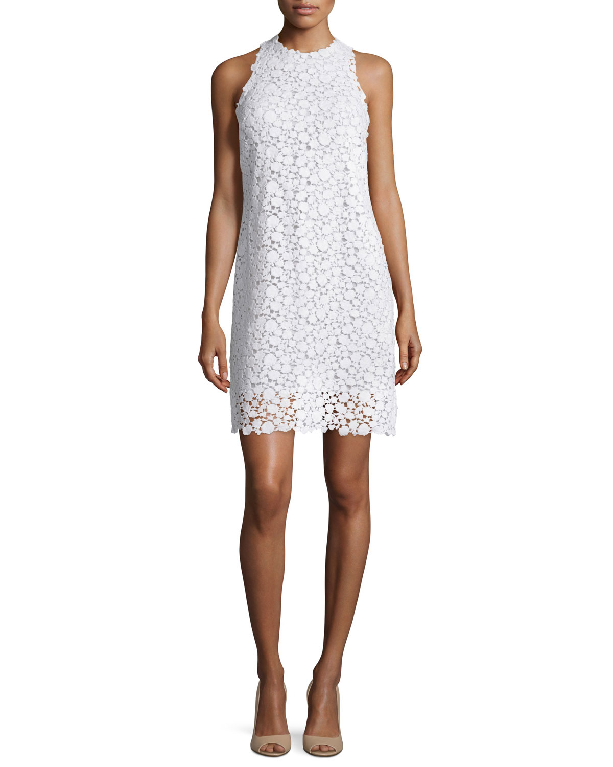 75e420ffa09 MICHAEL Michael Kors Sleeveless Floral Lace Dress in White - Lyst