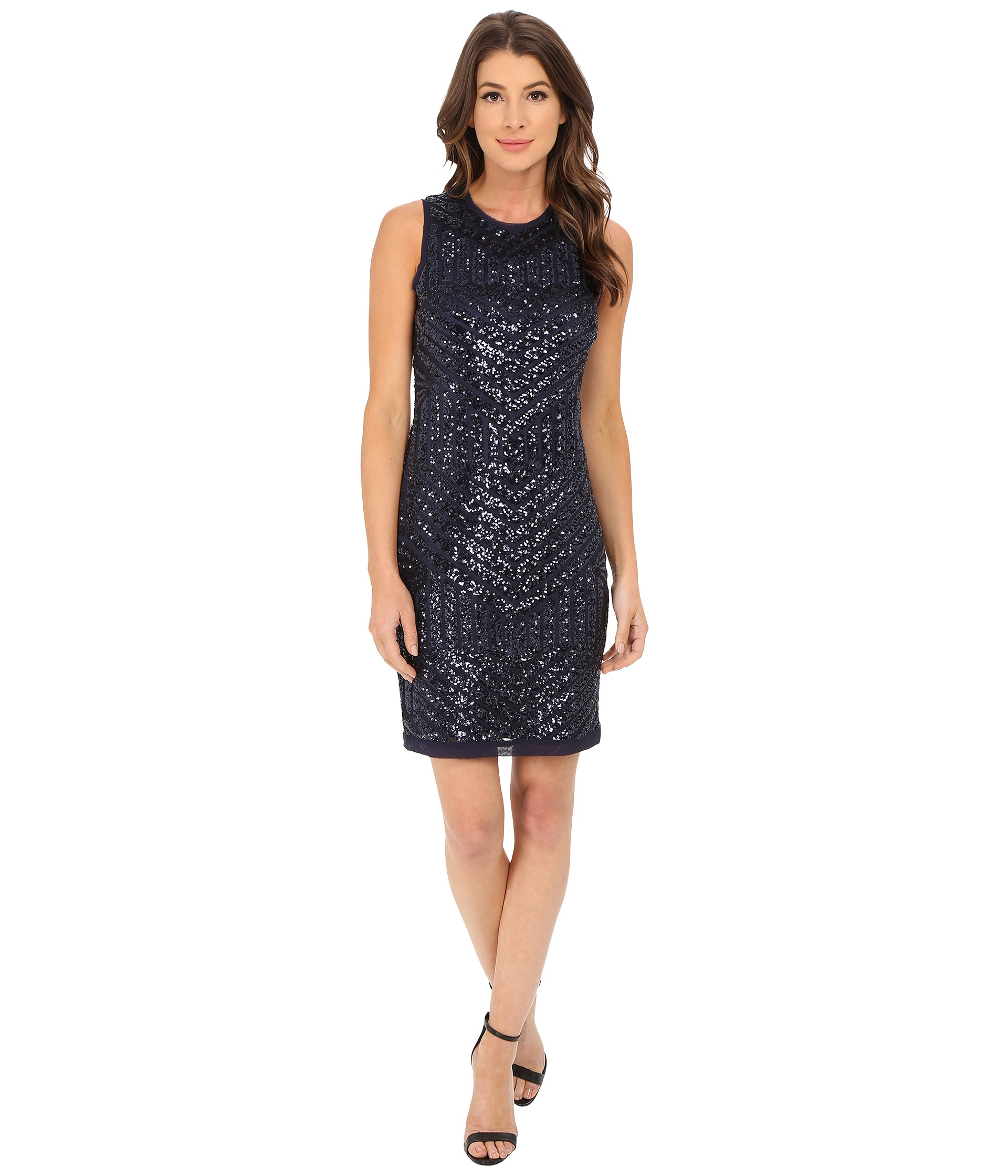 a0e9f54f6e7 Vince Camuto Geo Sequin Sheath Dress in Blue - Lyst