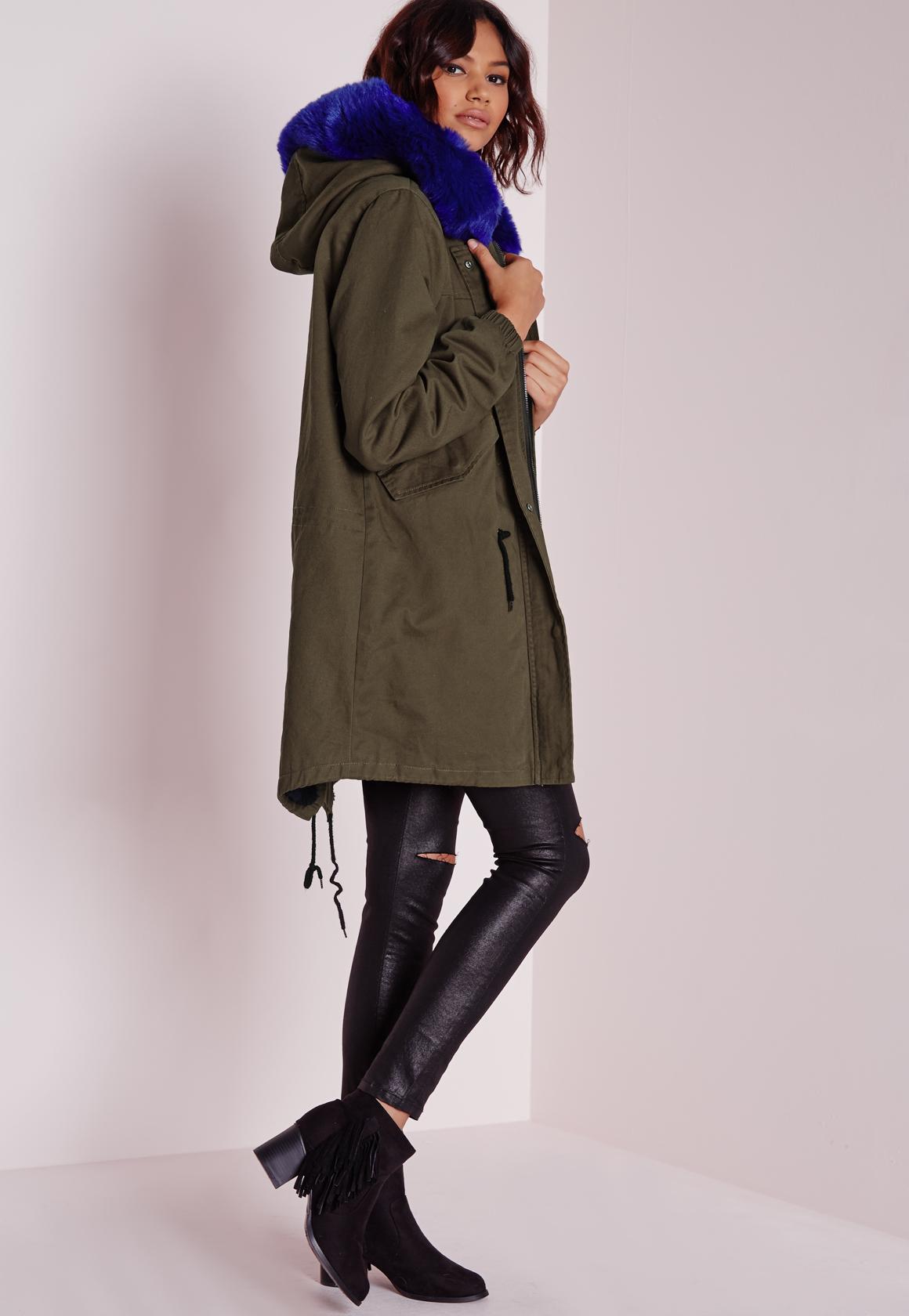 Khaki parka jacket fashion