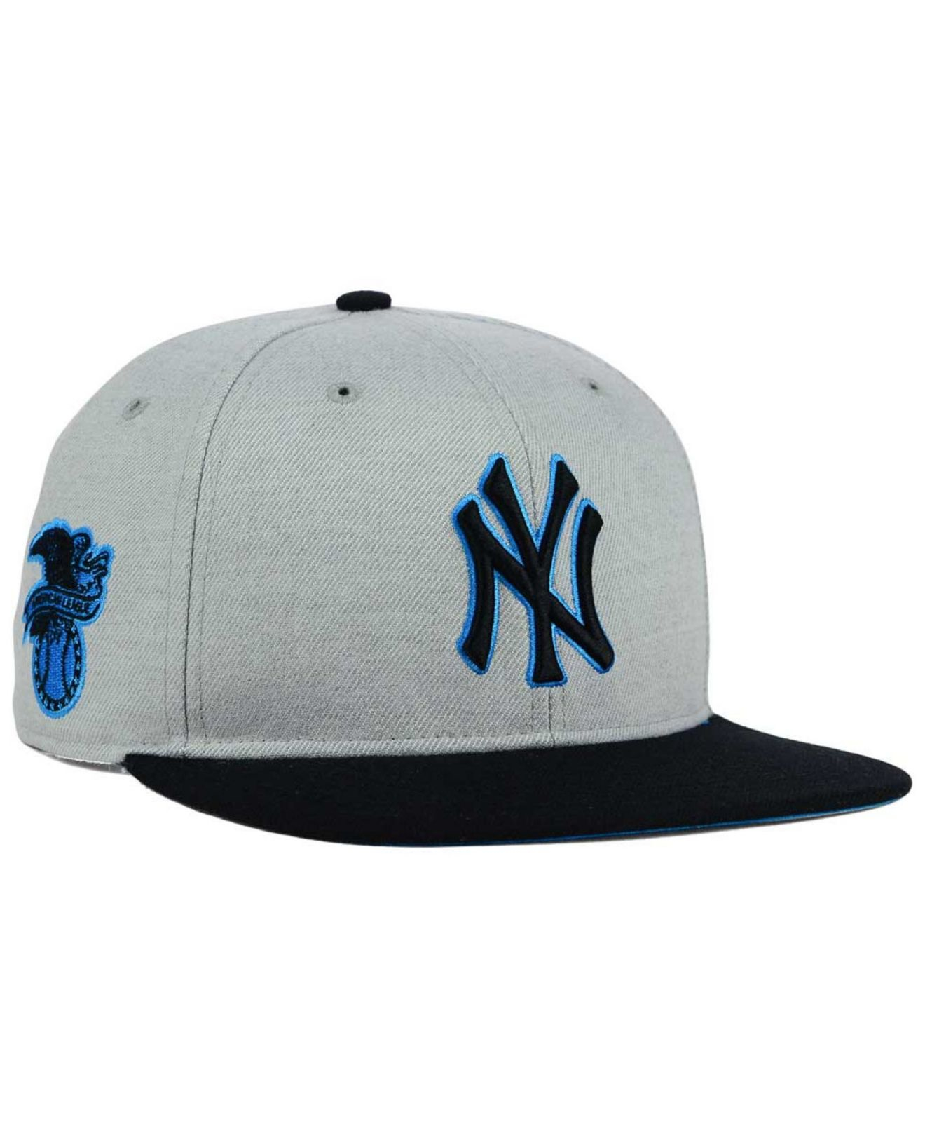 03ce21d8713 ... canada lyst 47 brand new york yankees wrist shot snapback cap in gray  for men 5a075