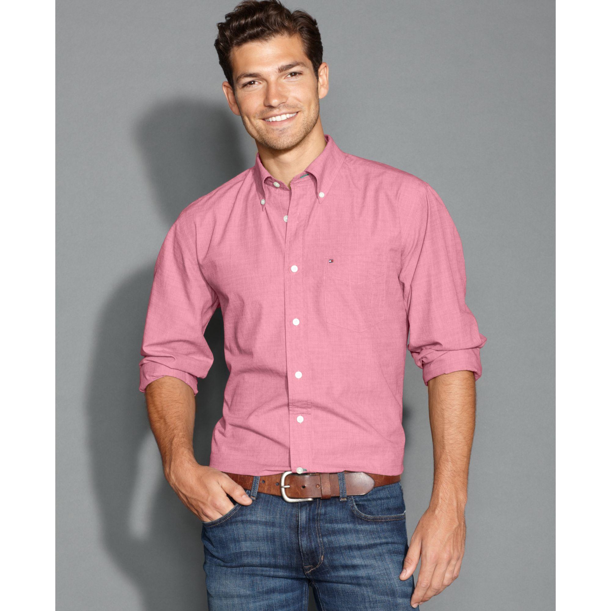 Lyst Tommy Hilfiger Big And Tall Longsleeve Vineyard Striped Shirt