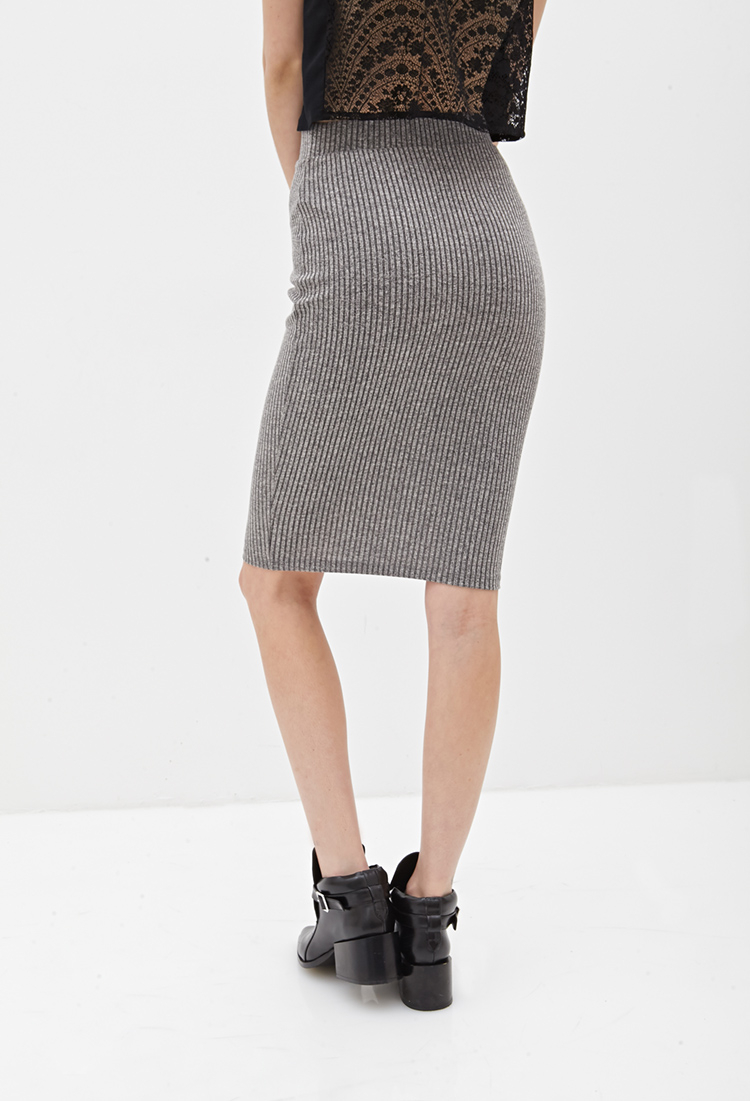 Lyst Forever 21 Ribbed Knit Pencil Skirt You Ve Been