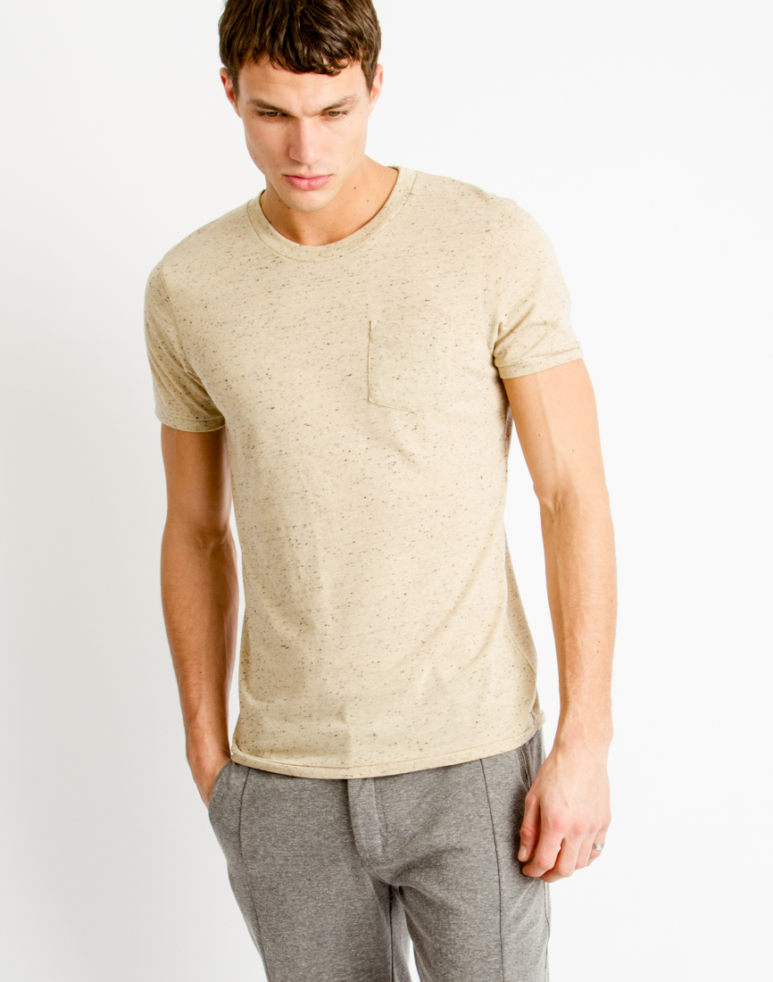 Selected Symbol Short Sleeve T-shirt in Natural for Men | Lyst