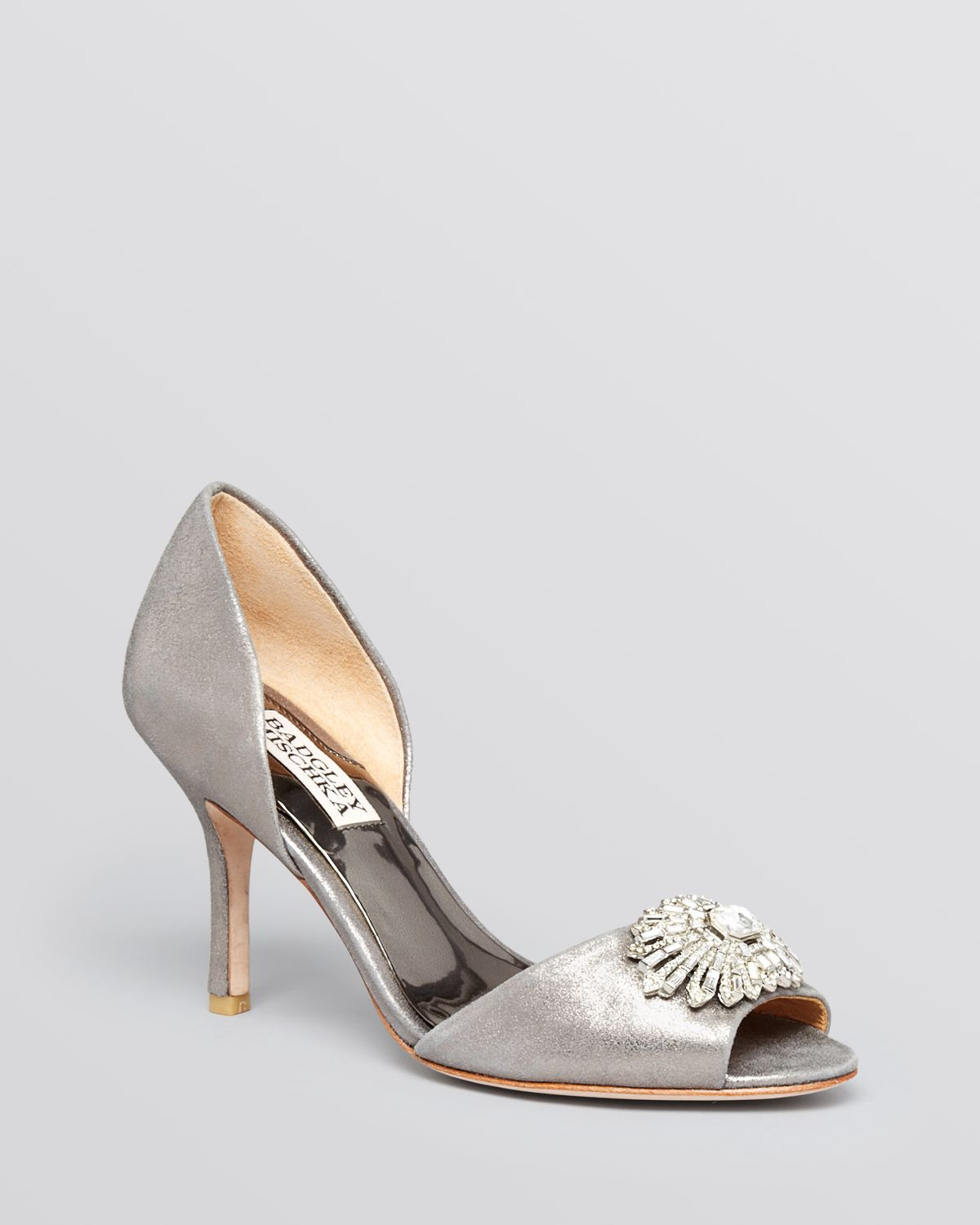 Badgley mischka Open Toe D Orsay Evening Pumps Jazmin High Heel