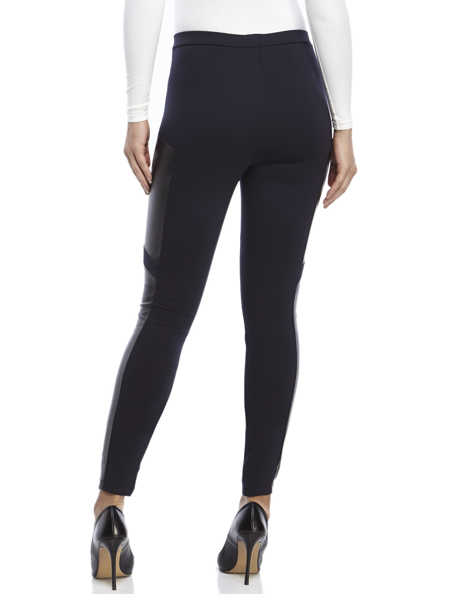 Free shipping BOTH ways on dknyc legging w faux leather front panel black, from our vast selection of styles. Fast delivery, and 24/7/ real-person service with a smile. Click or call