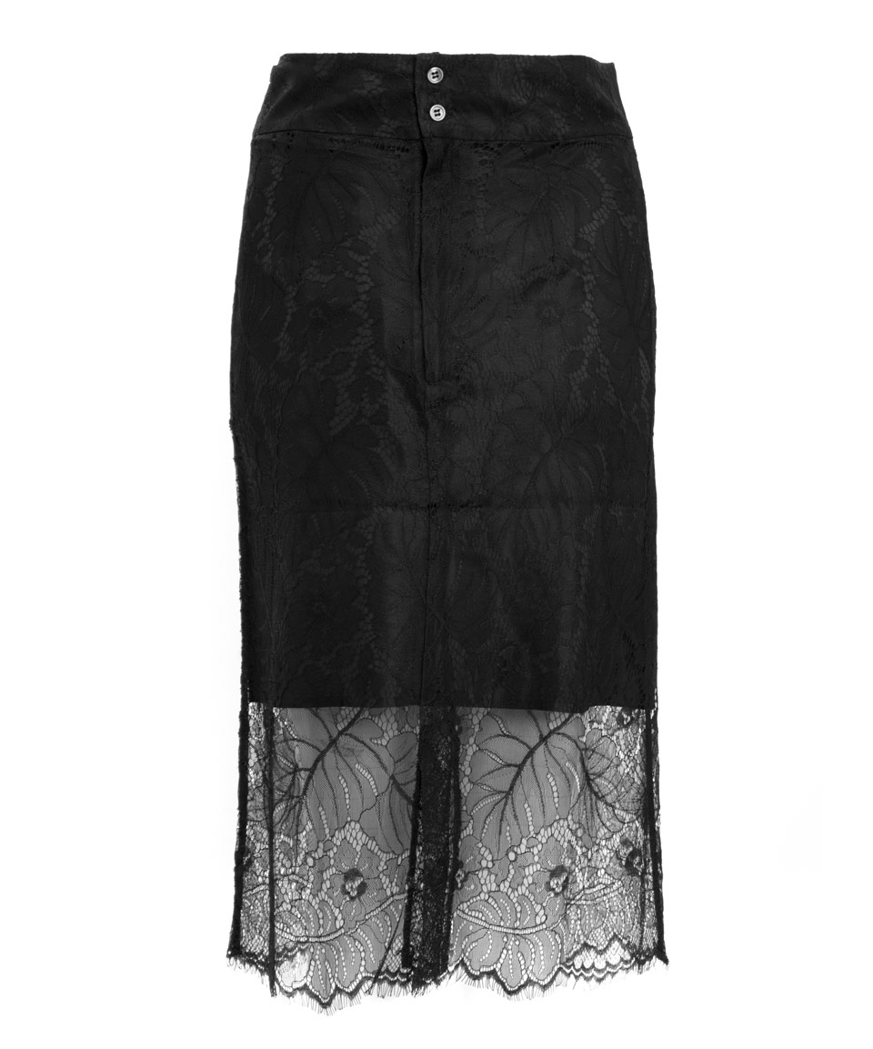 1aa1730d Ganni Black California Lace Skirt in Black - Lyst