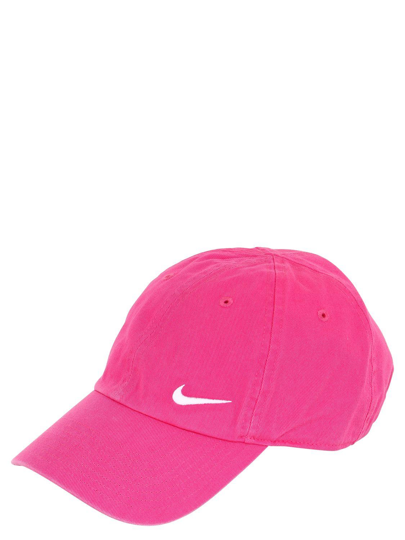 Nike Swoosh Cotton Baseball Hat in Pink - Lyst dcbf181ccb0