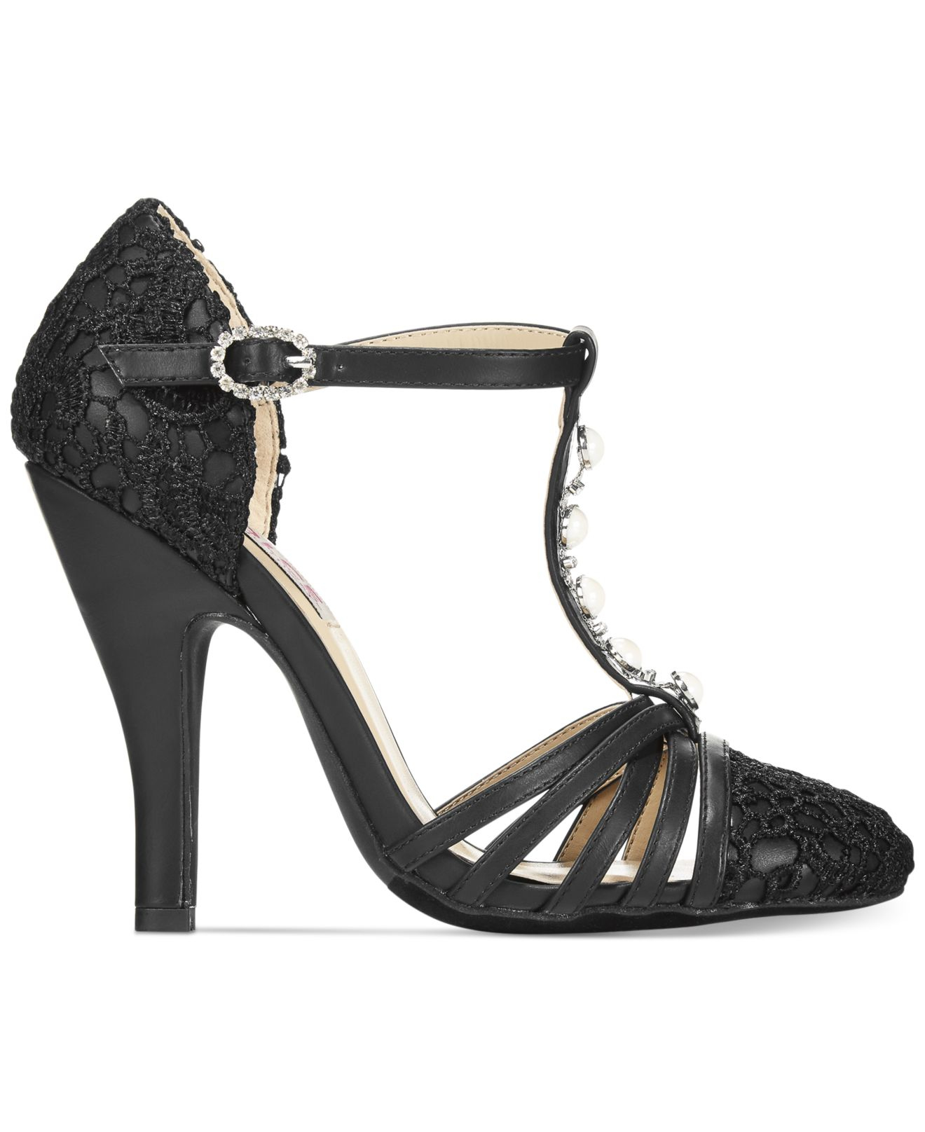 mojo moxy dolce by bunny t strap pumps in black lyst. Black Bedroom Furniture Sets. Home Design Ideas