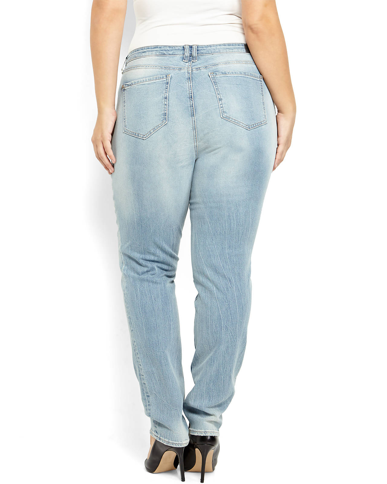 Dkny Plus Size Light Wash Mercer Skinny Jeans in Blue | Lyst
