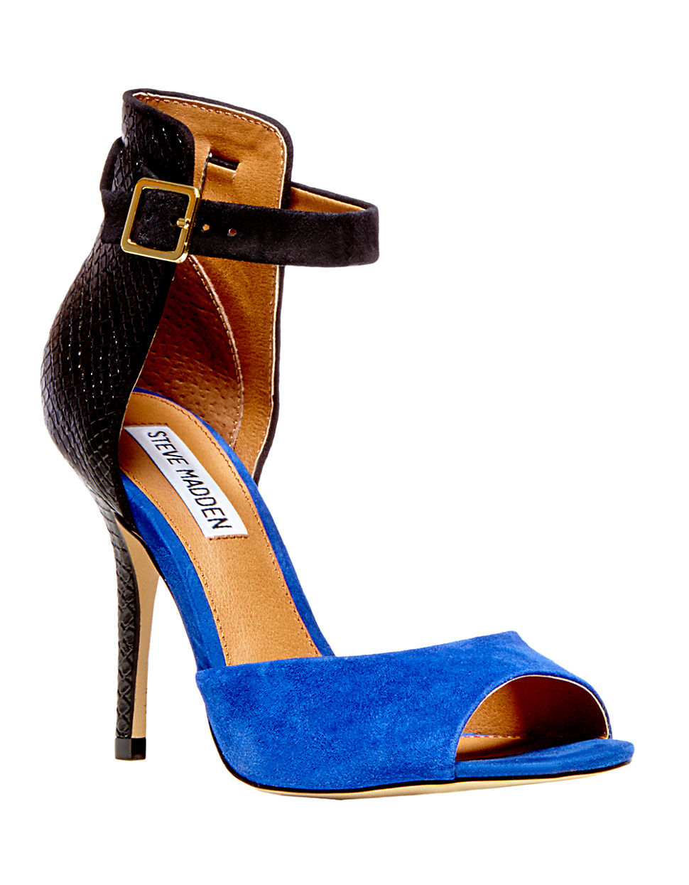 094e0709147 Steve Madden Step Out High-Heel Sandals in Blue - Lyst