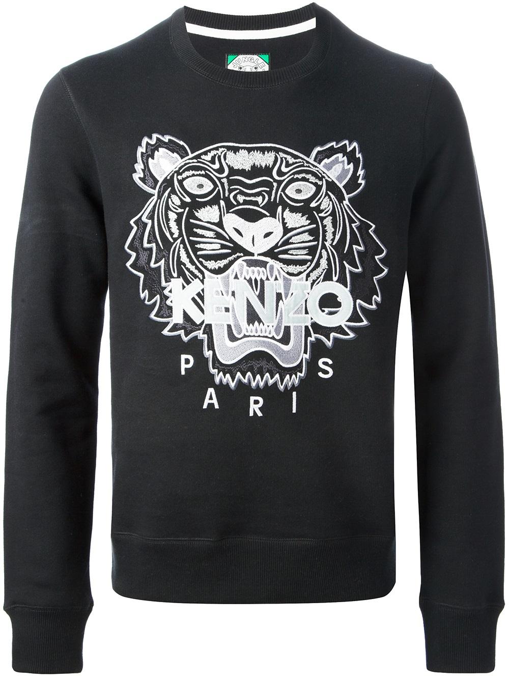 60be12cd KENZO Brody Sweater in Black for Men - Lyst