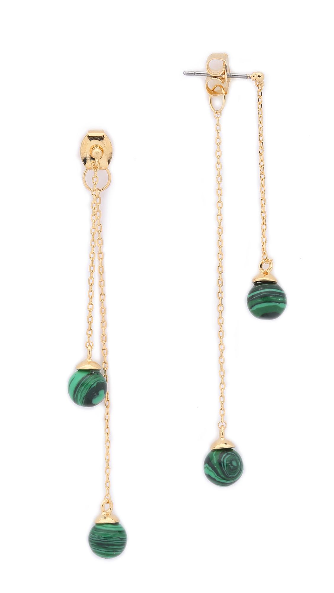 noir jewelry sphere drop earrings in metallic lyst