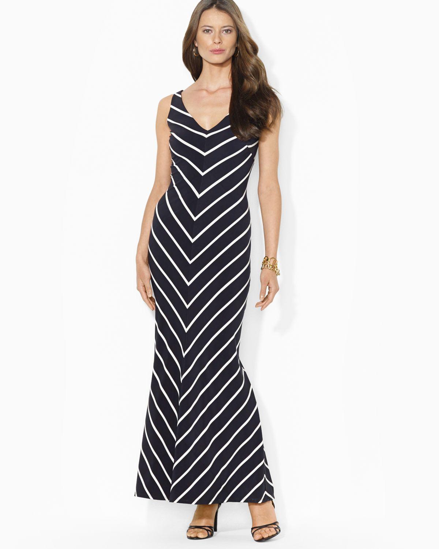 Lyst Ralph Lauren Lauren Maxi Dress V Neck Sleeveless