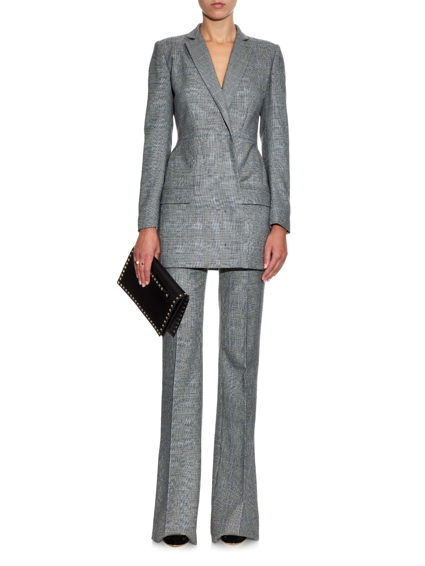 Lyst Antonio Berardi Prince Of Wales Check Wool Trousers