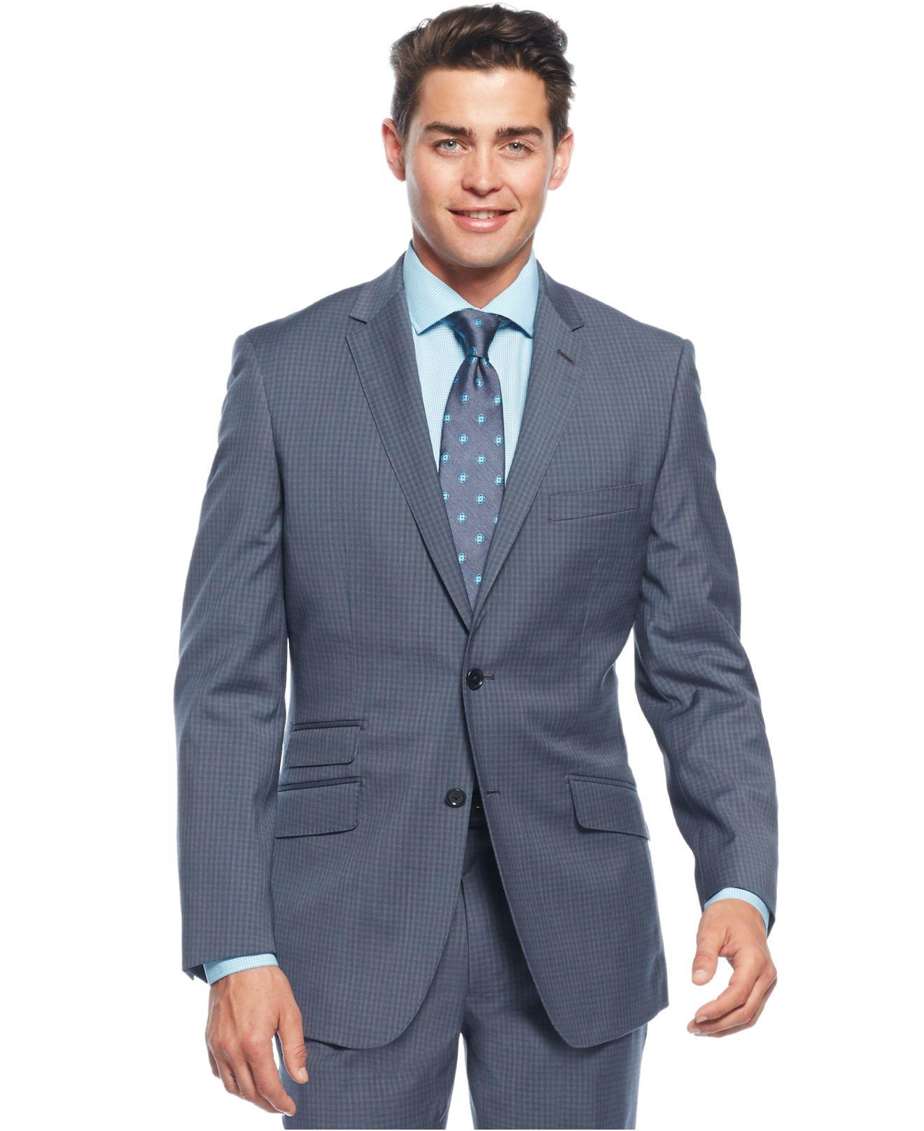 lyst english laundry light blue plaid slimfit suit in