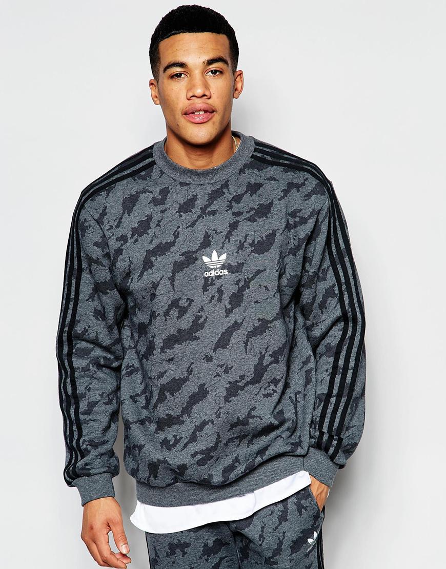 cf898a467797b Adidas Originals Camo Sweatshirt Aj7902 in Gray for Men - Lyst