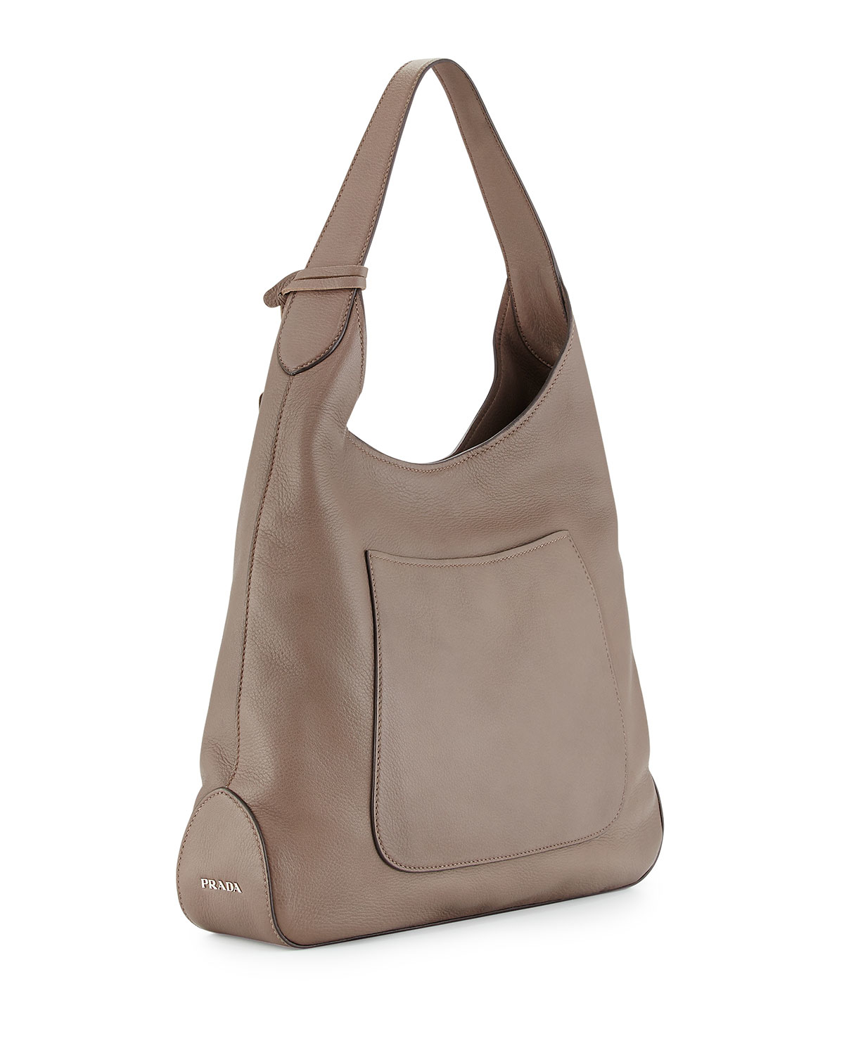 Prada Cervo Pocket Hobo Bag in Gray | Lyst