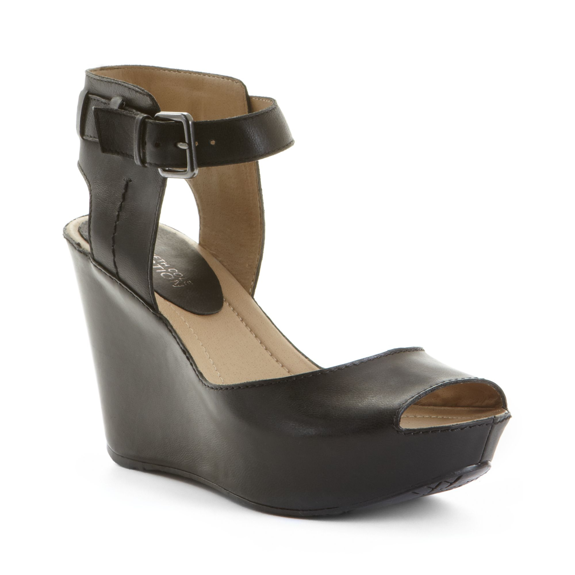 e9d1ec78567 Lyst kenneth cole reaction sole heart wedge sandals in black jpg 2000x2000 Kenneth  cole black wedge