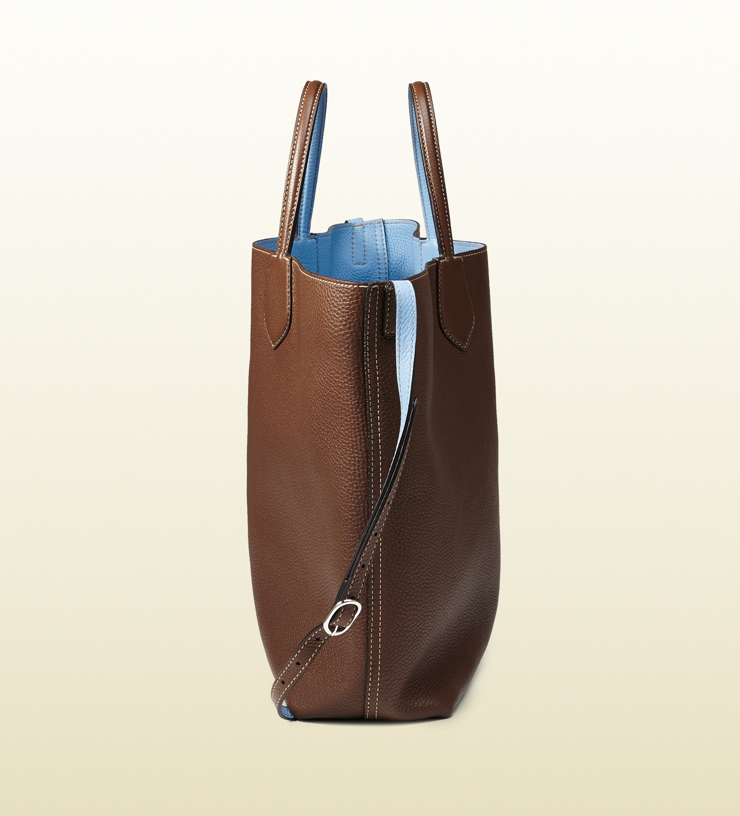 0246d8f9bec0 Gucci Ramble Reversible Leather And Original Gg Canvas Tote in Brown ...