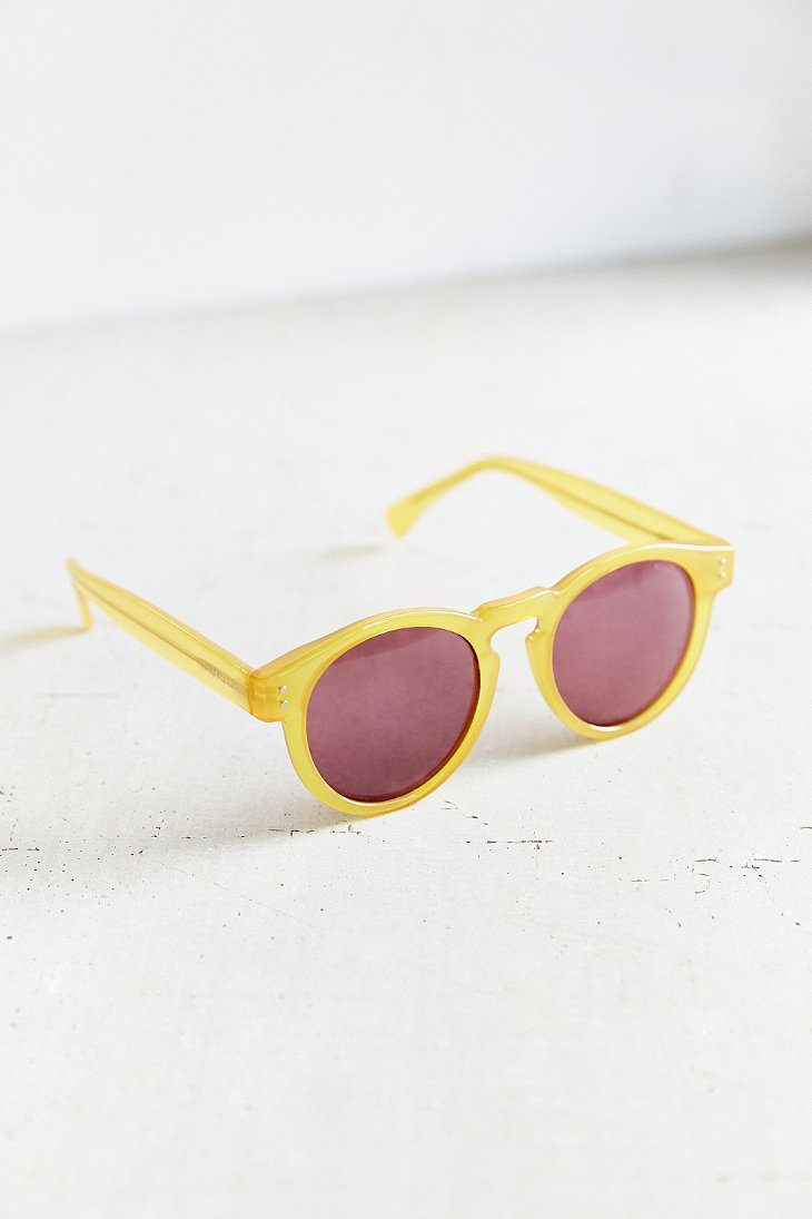 Komono Clement Round Sunglasses  komono clement round sunglasses in yellow lyst