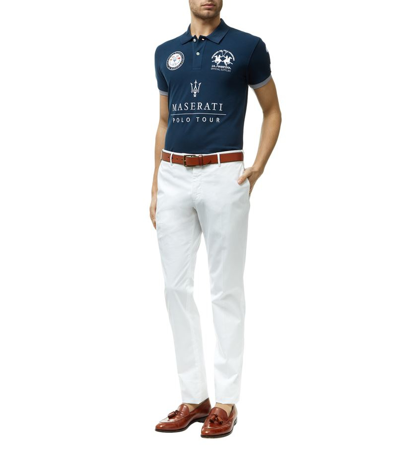 la martina maserati polo shirt in blue for men lyst. Black Bedroom Furniture Sets. Home Design Ideas