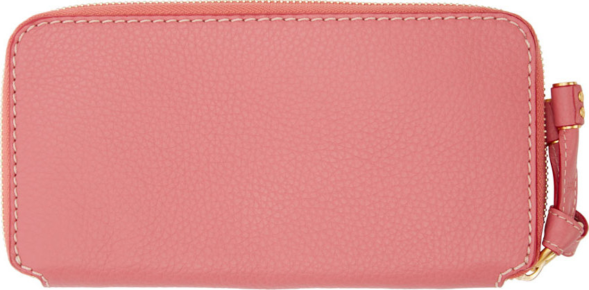 Chlo¨¦ Magnolia Pink Leather Marcie Wallet in Pink | Lyst