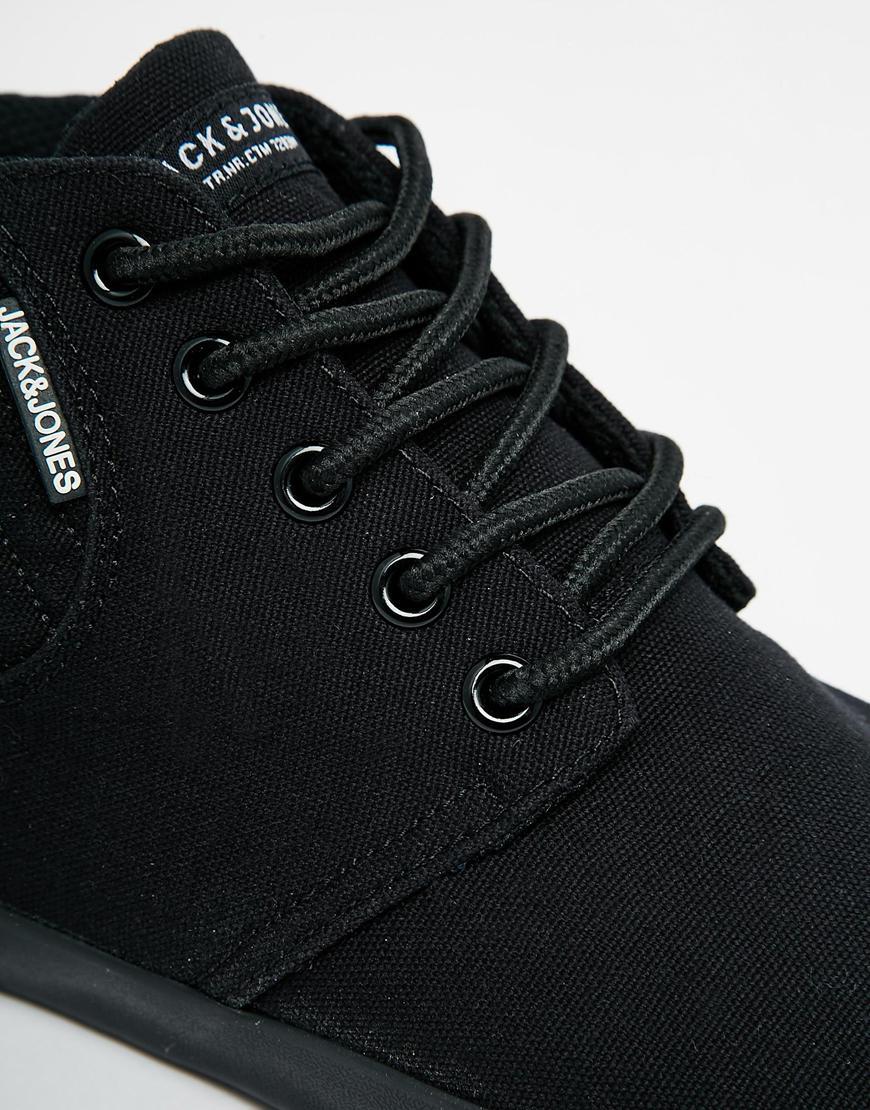40167179181ea7 Jack & Jones Vertu Canvas Trainers - Black in Black for Men - Lyst