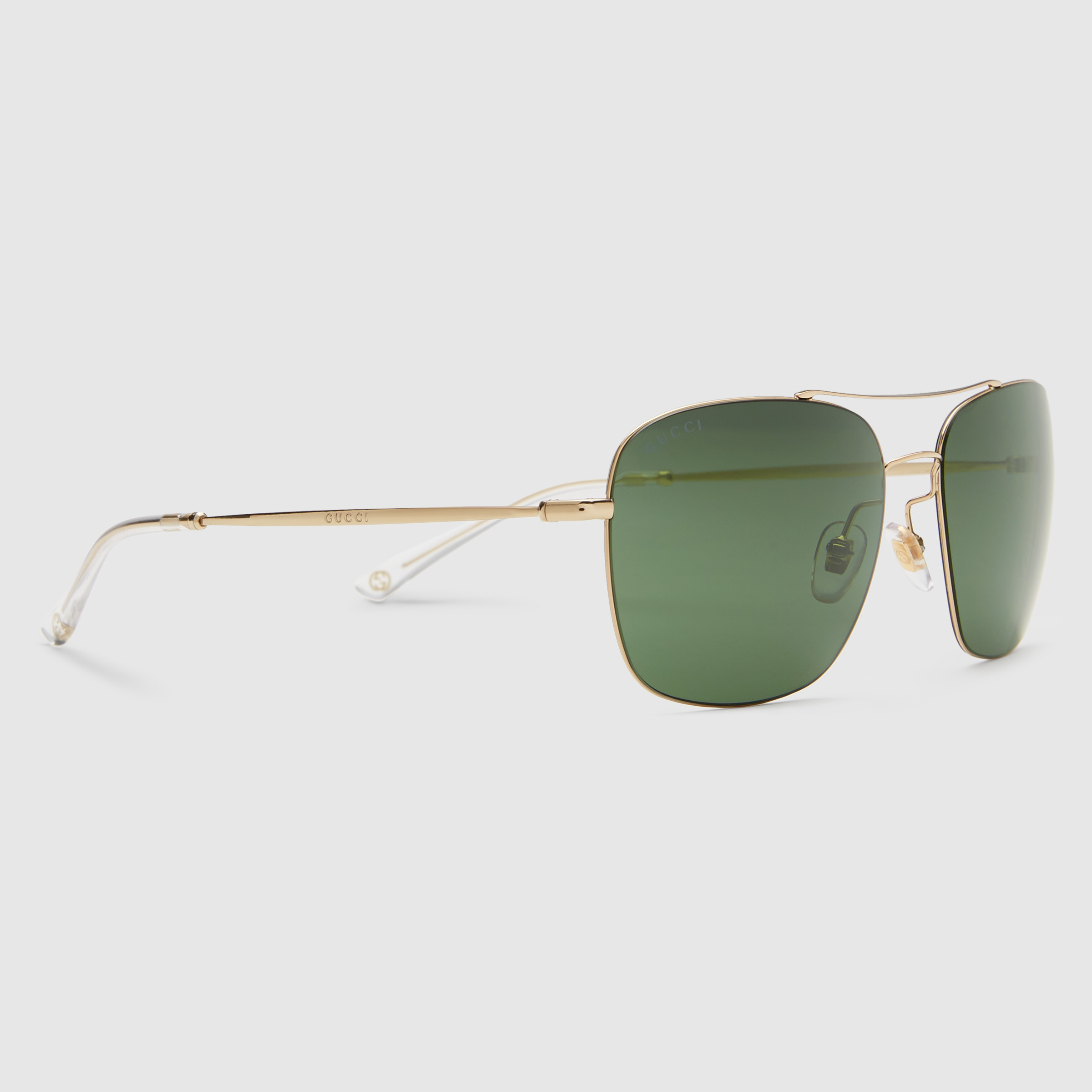 15405c758a Lyst - Gucci Steel And Metal Square-frame Sunglasses in Metallic for Men