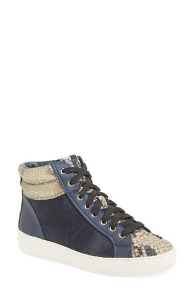 412dd3fa24329 Lyst - Sam Edelman  britt  High Top Sneaker in Blue