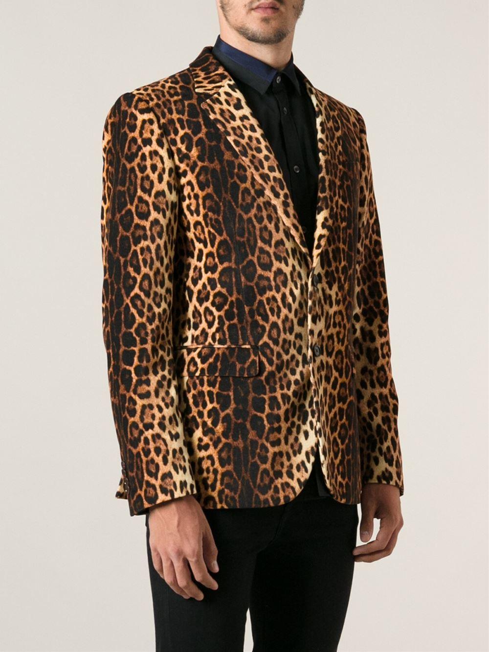 3cd4cd8dd6 Moschino Leopard Print Blazer for Men - Lyst
