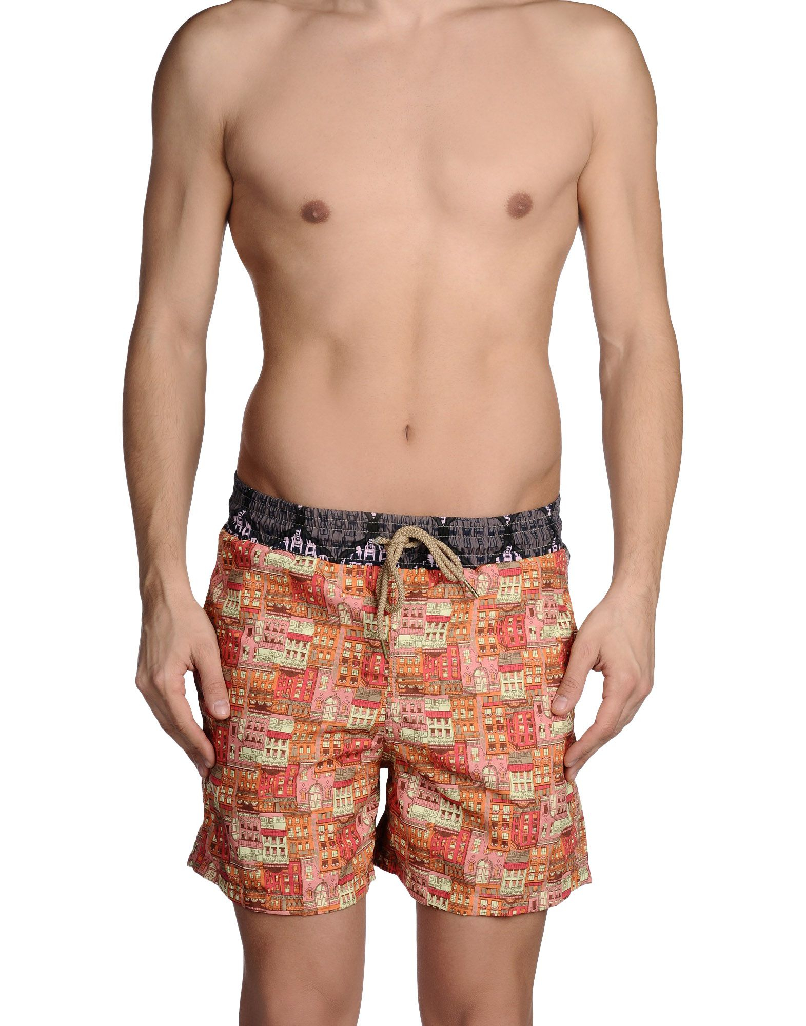Maaji Swimming Trunk In Orange For Men Lyst